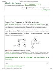 Depth First Traversal or DFS for a Graph - GeeksforGeeks.pdf
