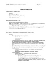 Comm 348 Chapter 2 Summary Form