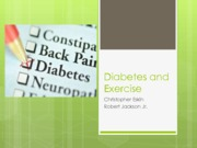 Diabetes and Exercise presentation FINAL