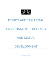 Ethics and the Legal Environment