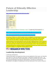 ETHICS-FEEL-cited in Leadership Development-USA RESEARCH WRITERS.docx