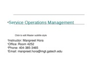 Service ops mgt Week7_Session1_Services Management