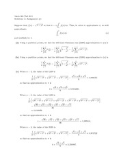 MATH 261 Assignment 1 Solutions