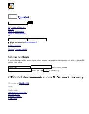 CISSP- Telecommunications & Network Security flashcards _ Quizlet.html