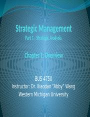 1st Lecture - Strategic Management