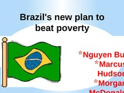 Brazil's new plan to beat poverty