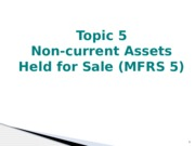 Chapter 5-Non-current assets held for sale