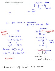 Chapter 1 Lecture on Precalculus