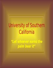 University of South California.pptx