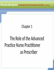 Ch1 Pp Ppt For Advanced Nurse Practitioner Prescribers 4th Edition Chapter 1 The Role Of The Advanced Practice Nurse Practitioner As Prescriber For Course Hero