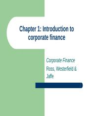 Chapter 1 Intropduction to Corporate fionance.ppt