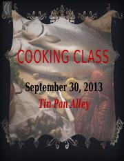 Lab 3-1 Cooking Classes