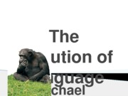 The Evolution of Language