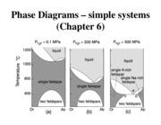 Chapter 6 Phase Diagrams-Simple Systems