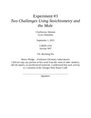 Experiment 3 Lab Report