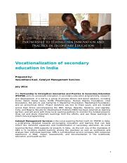 Vocationalization of Secondary Education in India_final_1.docx