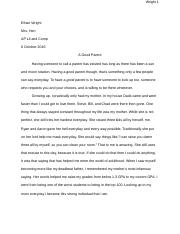 Wright definition essay