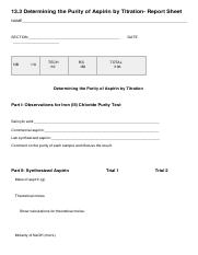 Determining the Purity of Aspirin by Titration- Report Sheet.pdf