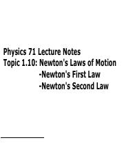 Topic110[Newton's Laws First and Second]-key