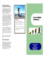 Early and Middle Adulthood Brochure