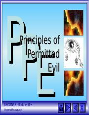 Module III-H Principles of Permitted Evil.ppt