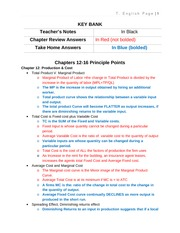 Micro-Economics Ch 12-16 Principle Points-My Notes