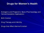 drugs for men and women