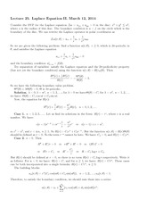 Lecture 25 on Laplace Equation II