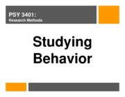 lecture 3 - studying behavior