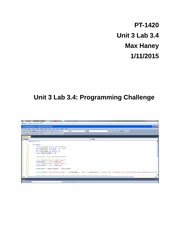 Unit 3 Lab 3.4- Programming Challenge
