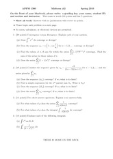 Exam 2 Spring 2010 on Calculus 2 for Engineers