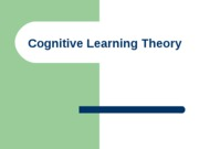 Margo's cognitive learning theory chapter 7