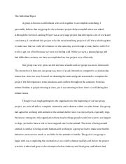 The Individual Paper