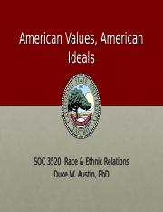 1 American Values, Contemporary Trends(1)