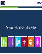Electronic Mail Security Policy v1.0