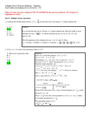 Test 3 Practice Problem Solutions 2017FS
