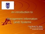 Day 2  Management Information system
