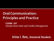 Chapter 7 Interpersonal Comm Skills