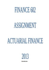 Finance 602 Assignment latest.doc