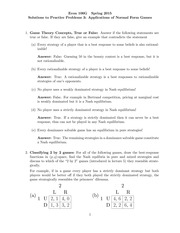 Econ 106G Practice Problems 3 - Solution