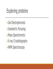 Exploring proteins (CH 3)-2(1)