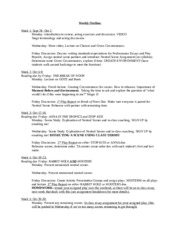 Weekly Outline