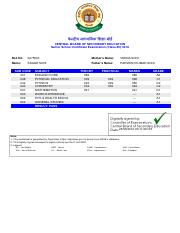 CBSE Class XIIth Result