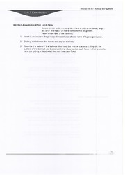 Written Assignement Unit  1 - BAM 313 - Financial Management