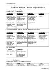 Spanish Review Lesson Project Rubric.docx