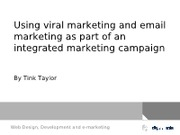 viral marketing and e-mail