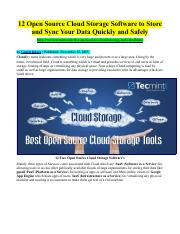 12 Open Source Cloud Storage Software to Store and Sync Your Data Quickly and Safely