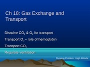 Chapter 18 Gas Exchange and Transport