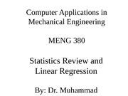 Statistics Review-Linear Regression(1)