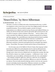'NeuroTribes,' by Steve Silberman - The New York Times - 8-18-15.pdf